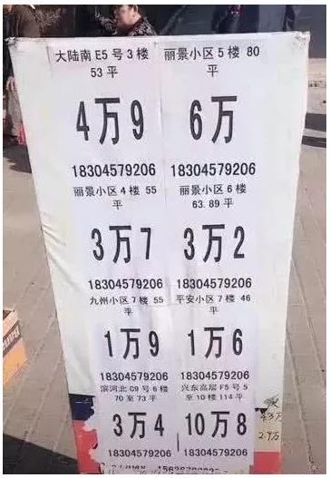 媒体曝出的鹤岗房价图