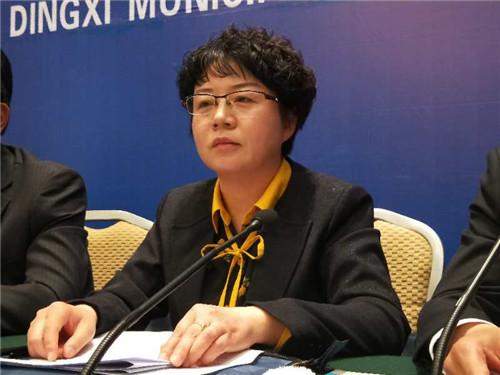 临洮县委宣传部长刘映菊出席发布会。摄影 李开南