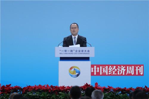 新华集团主席、香港中华总商会会长蔡冠深发言