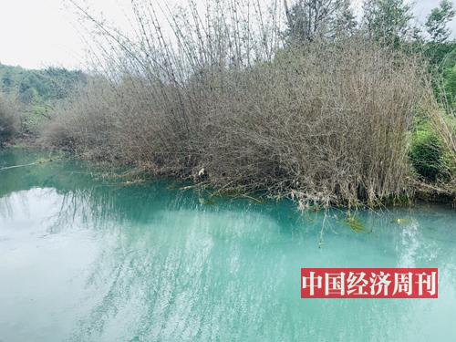 36-2 黃沙鄉稀土尾水處理廠,未經處理的稀土礦尾水。(《中國經濟周刊》記者 李永華 攝)