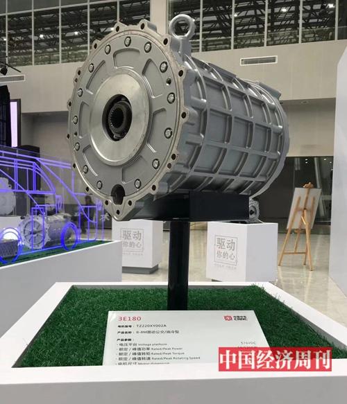 中车株洲电机公司的3E180型号电机。李永华摄