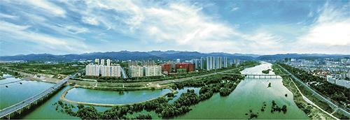 p104 嵩县县城新区全貌鸟瞰 供图| 嵩县县委宣传部