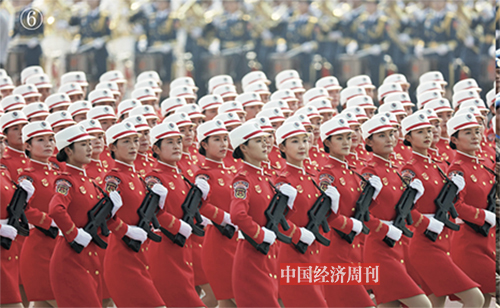 p54-55 这是女民兵方队。