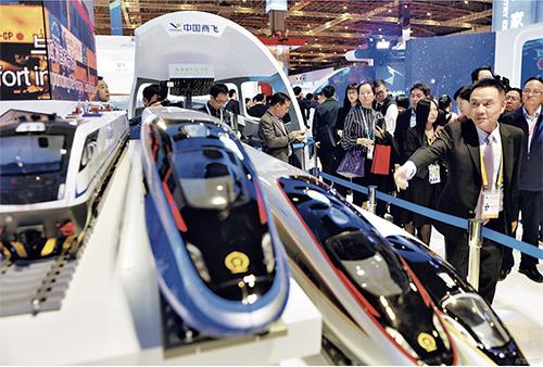 p22 2019 年11 月5 日,上海,第二届进博会,中国商飞展品。