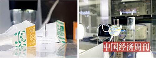 "p25 左:全球最细的胰岛素注射针头""纳诺斯Jr."" 右:强生医疗心血管HELIOSTARTM 多电极射频球囊消融导管,是全球房颤治疗领域的""黑科技""。"