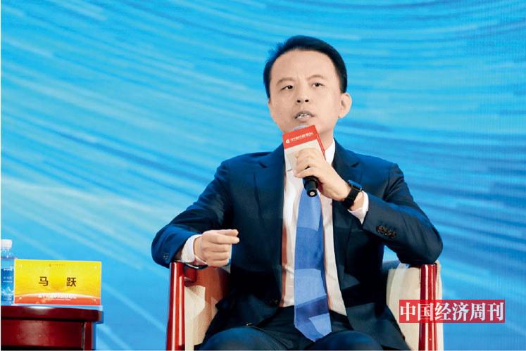 "P66 马跃在第十八届中国经济论坛上参加""发展先进制造业 振兴实体经济""分论坛"
