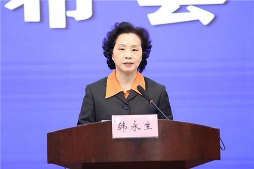 安徽省市场监管局党组书记、局长韩永生发布新闻 。   吴晓光   摄