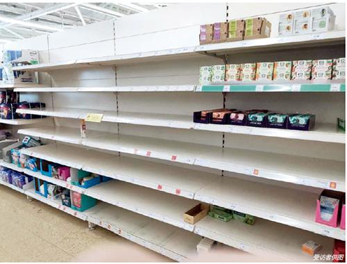 p34 英国超市的商品几乎都被民众搬回了家
