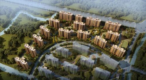 _上海顾村经适房项目效果图(图片由中国十二冶提供)