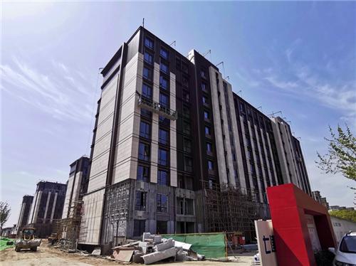 正在施工中的碧云尊邸平层和别墅   摄影中国经济周刊记者 王雨菲