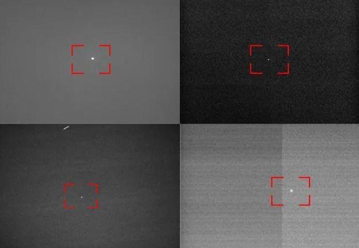 不同光学设备获取的东方红一号卫星图像(来源:中国青年报)