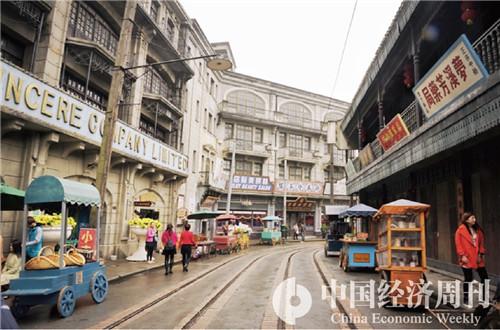 7车墩影视基地  摄影《中国经济周刊》记者 王雨菲