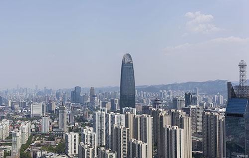 90 2020年4月27日,山東濟南城市全景。