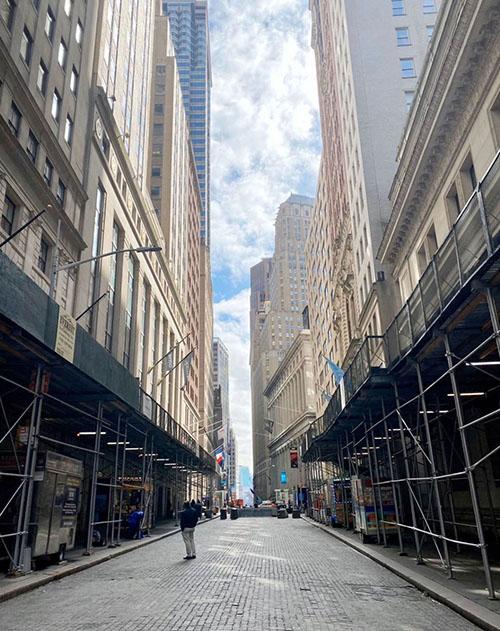p98 纽约空荡荡的华尔街
