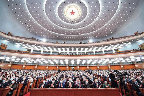 p39 5 月21 日,中國人民政治協商會議第十三屆全國委員會第三次會議在人民大會堂開幕。