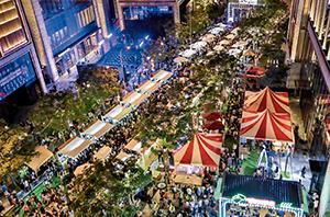 """95 6月6日,上海""""外灘楓徑""""開幕。BFC外灘金融中心供圖"""