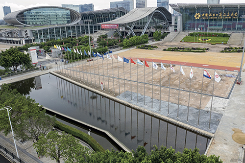 59 2020 年6 月13 日,航拍广州第127 届中国进出口商品交易会展馆。