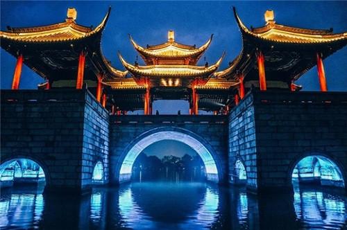 1、夜色五亭桥
