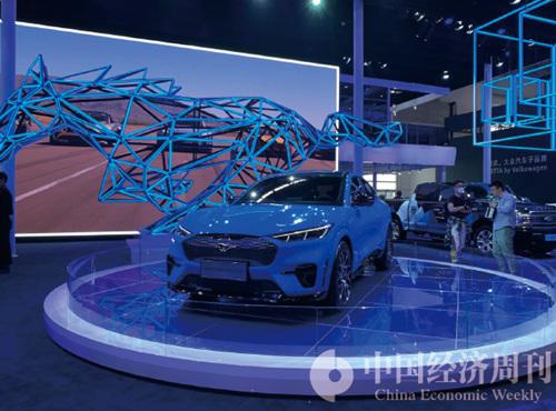 福特SUV—Mustang Mach-E  攝影:《中國經濟周刊》記者  謝瑋