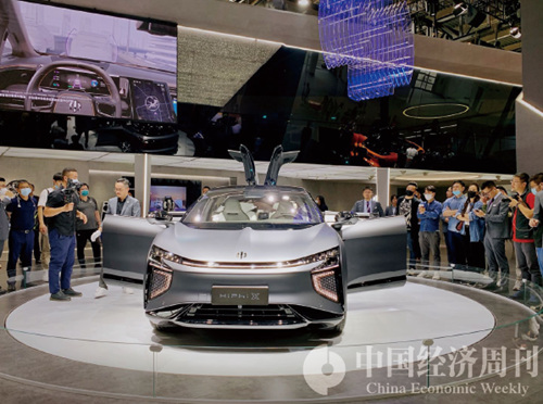 高合HiPhi-X,目前最貴的國產新能源車  攝影:《中國經濟周刊》記者  謝瑋