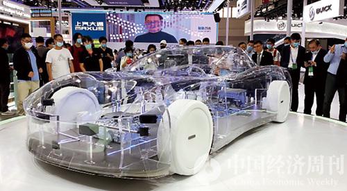 """華為""""水晶車""""  攝影:《中國經濟周刊》記者  謝瑋"""