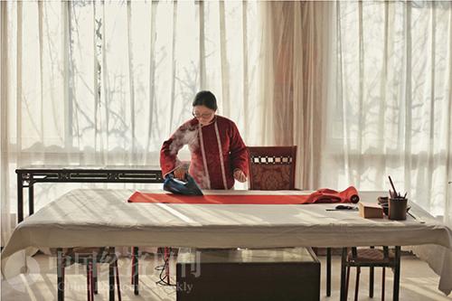 51-1 若塵每年都会给女儿亲手做一件棉袄过年