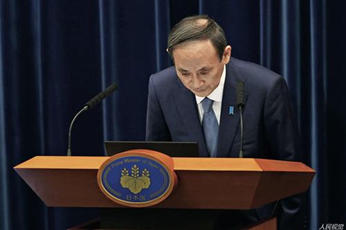 23 當地時間2021 年7 月30 日,日本東京,2020 年東京奧運會期間,日本首相菅義偉在其官