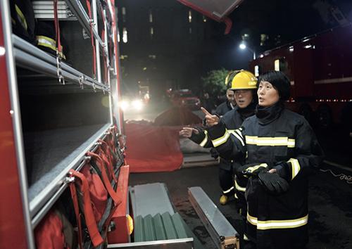98 2021 年3 月17 日,成都,陳碩調研指導基層應急救援拉動演練工作。
