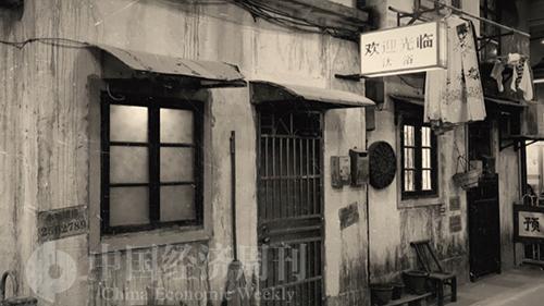 """111-1 """"城市集市""""的一角,恍若走進上海老弄堂。"""